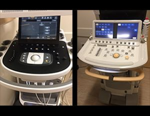 side by side ultrasound machines